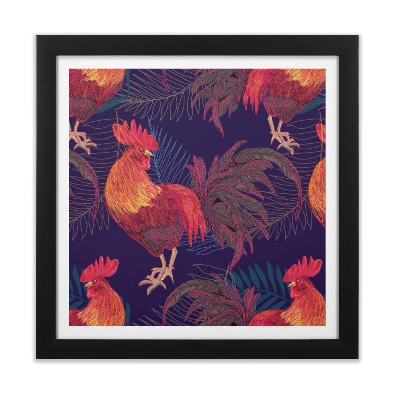 Rooster year Home Framed Fine Art Print by mokalache's Artist Shop
