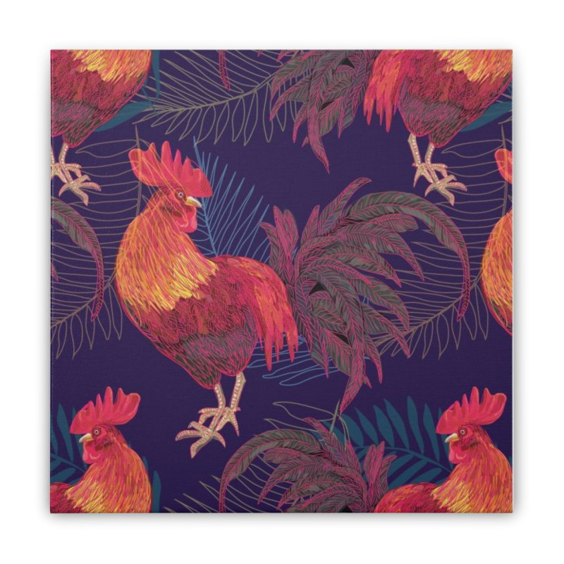 Rooster year Home Stretched Canvas by mokalache's Artist Shop