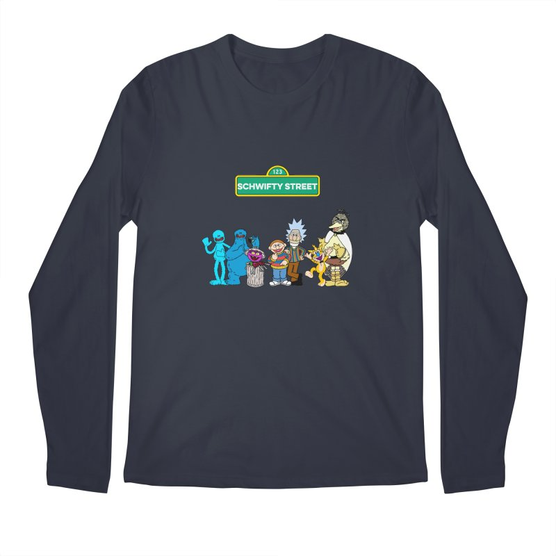 Schwifty Street Men's Longsleeve T-Shirt by mokej's Artist Shop
