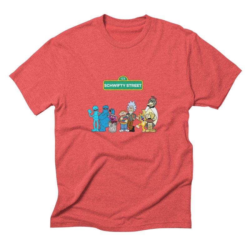 Schwifty Street Men's Triblend T-Shirt by mokej's Artist Shop