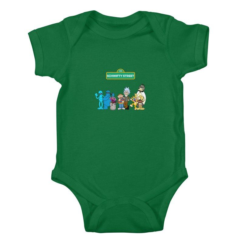 Schwifty Street Kids Baby Bodysuit by mokej's Artist Shop