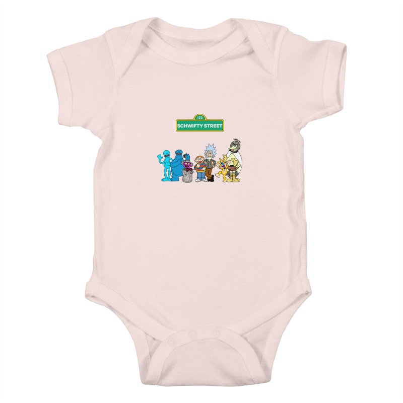 Schwifty Street Kids Baby Bodysuit by mokej's Artist Shop