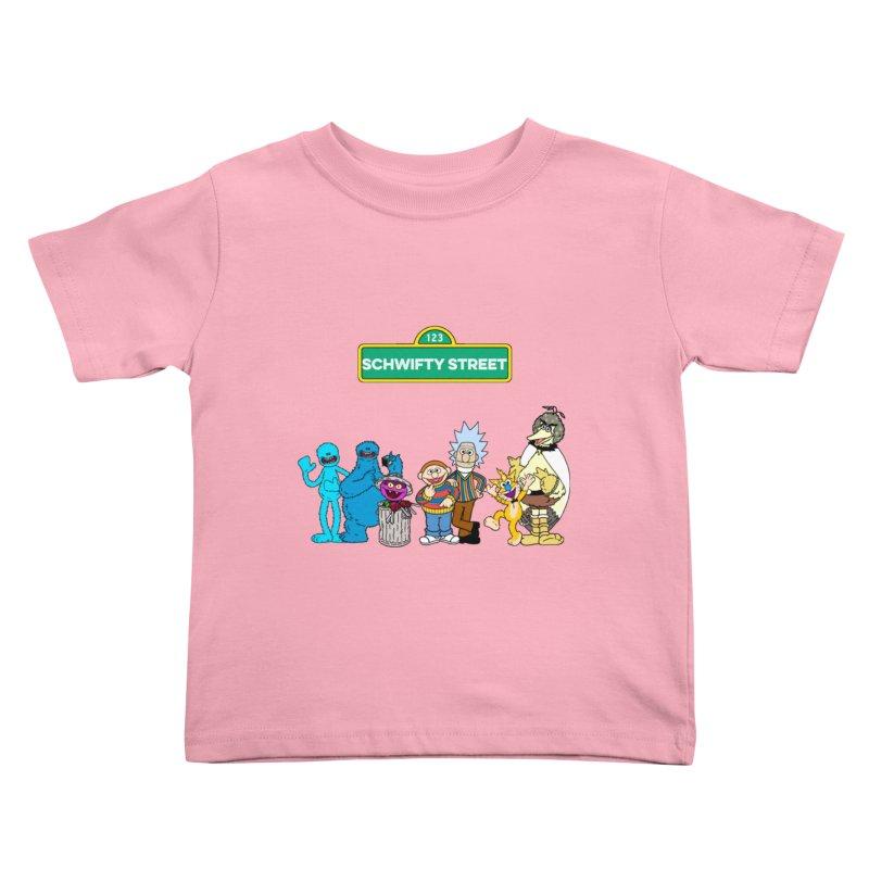 Schwifty Street Kids Toddler T-Shirt by mokej's Artist Shop