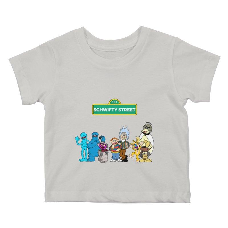 Schwifty Street Kids Baby T-Shirt by mokej's Artist Shop