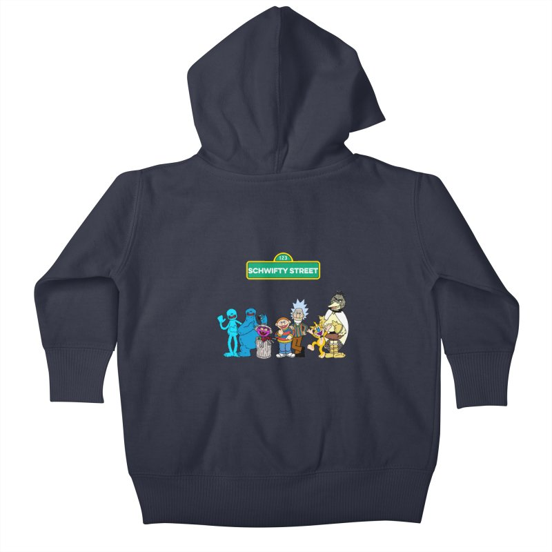 Schwifty Street Kids Baby Zip-Up Hoody by mokej's Artist Shop