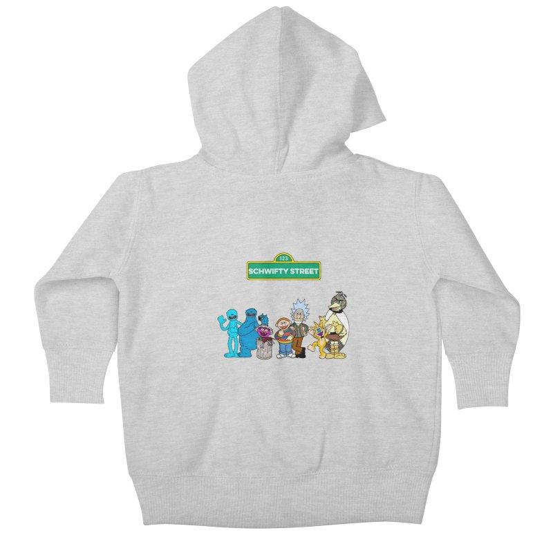 Schwifty Street Kids Baby Zip-Up Hoody by mokej's Artist Shop