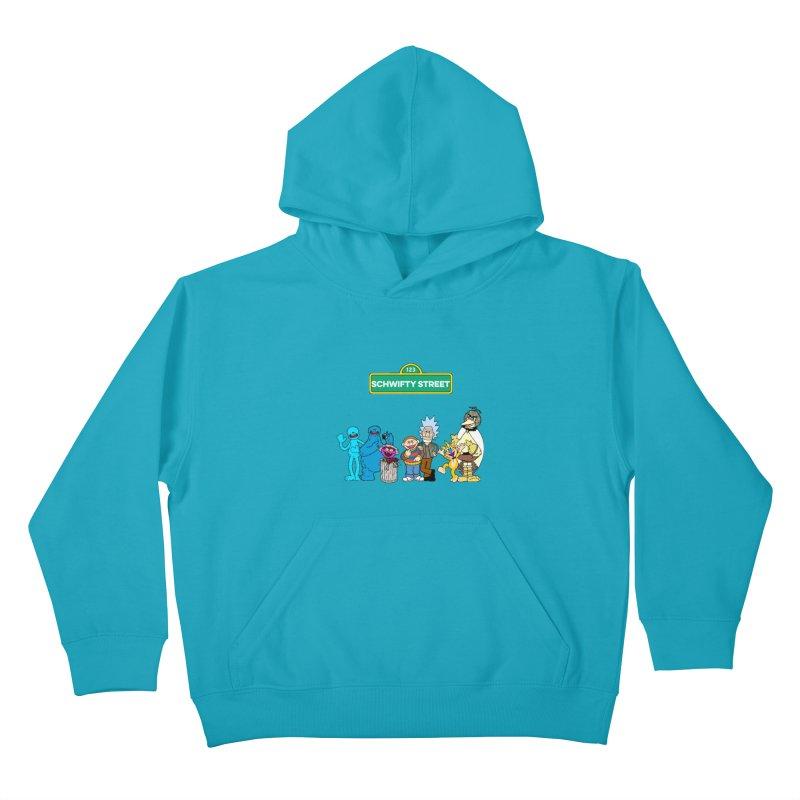 Schwifty Street Kids Pullover Hoody by mokej's Artist Shop