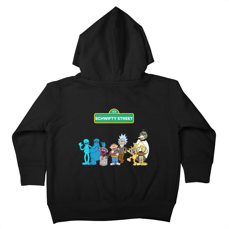 Schwifty Street Kids Toddler Zip-Up Hoody by mokej's Artist Shop