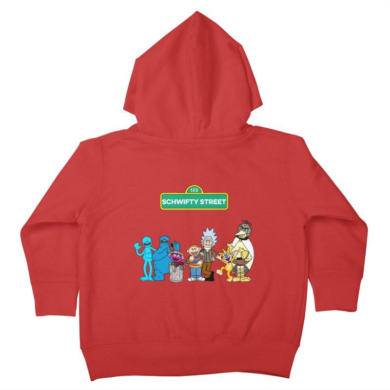 Schwifty Street Kids Toddler Zip-Up Hoody by mokej's Artist Shop