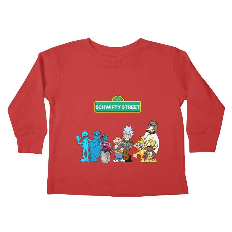 Schwifty Street Kids Toddler Longsleeve T-Shirt by mokej's Artist Shop