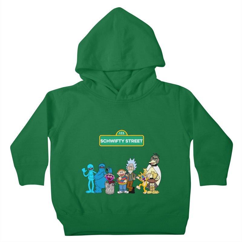Schwifty Street Kids Toddler Pullover Hoody by mokej's Artist Shop