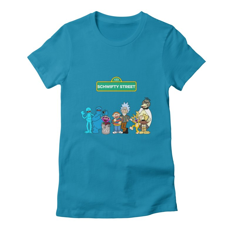 Schwifty Street Women's Fitted T-Shirt by mokej's Artist Shop
