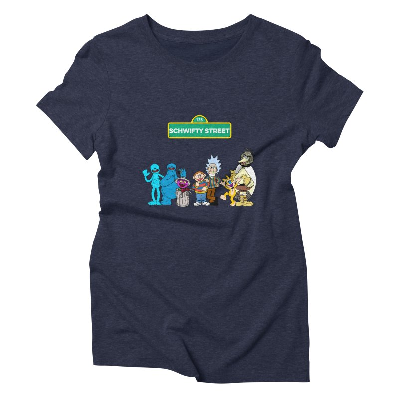 Schwifty Street Women's Triblend T-Shirt by mokej's Artist Shop