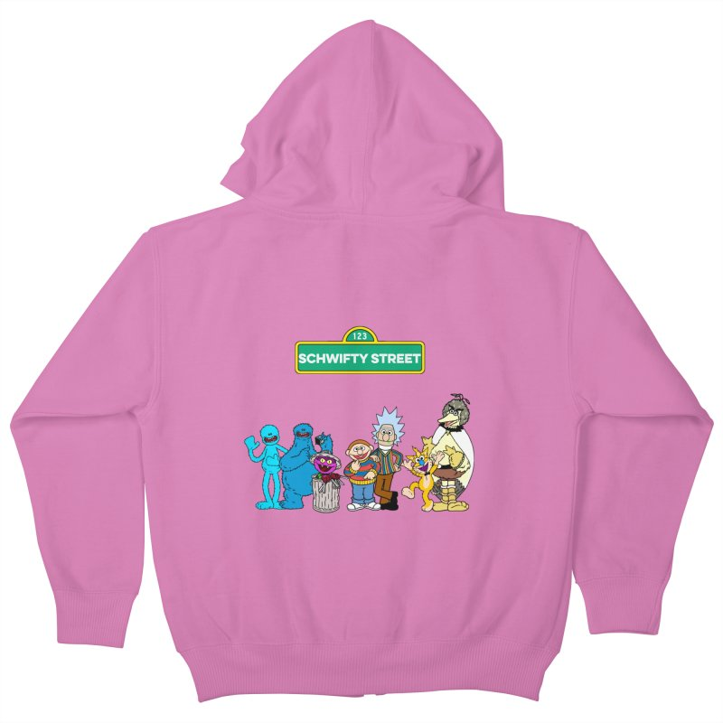 Schwifty Street Kids Zip-Up Hoody by mokej's Artist Shop