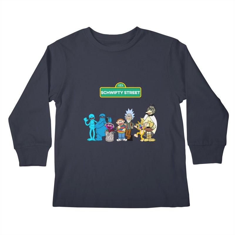 Schwifty Street Kids Longsleeve T-Shirt by mokej's Artist Shop