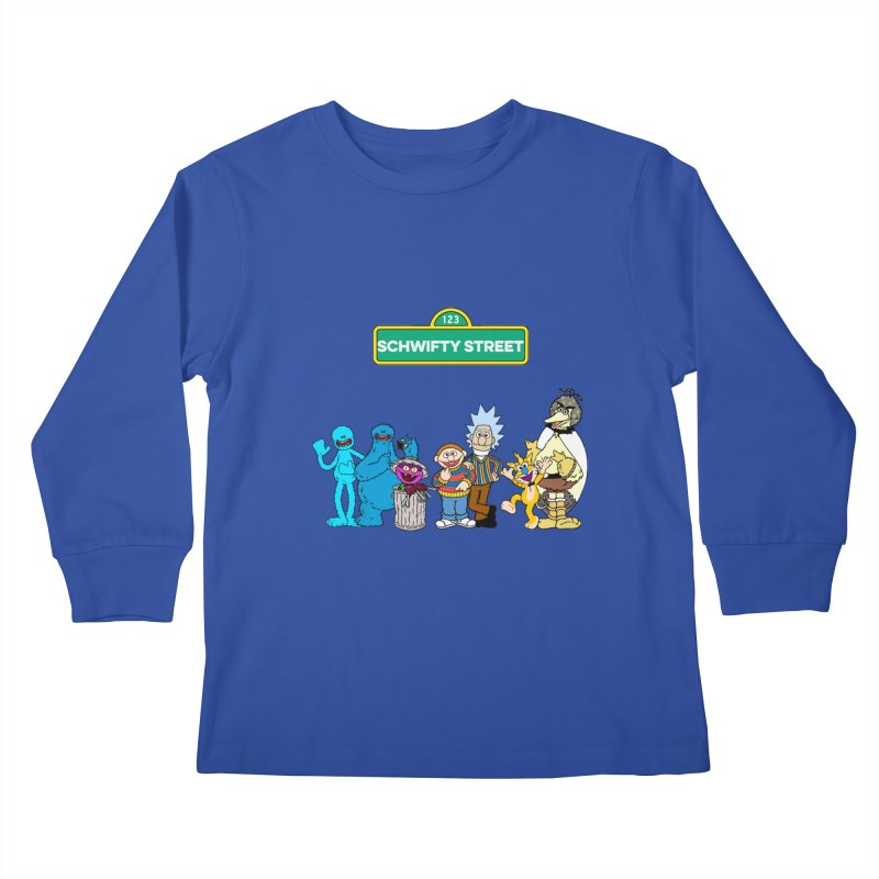 Schwifty Street Kids Longsleeve T-Shirt by mokej's Artist Shop