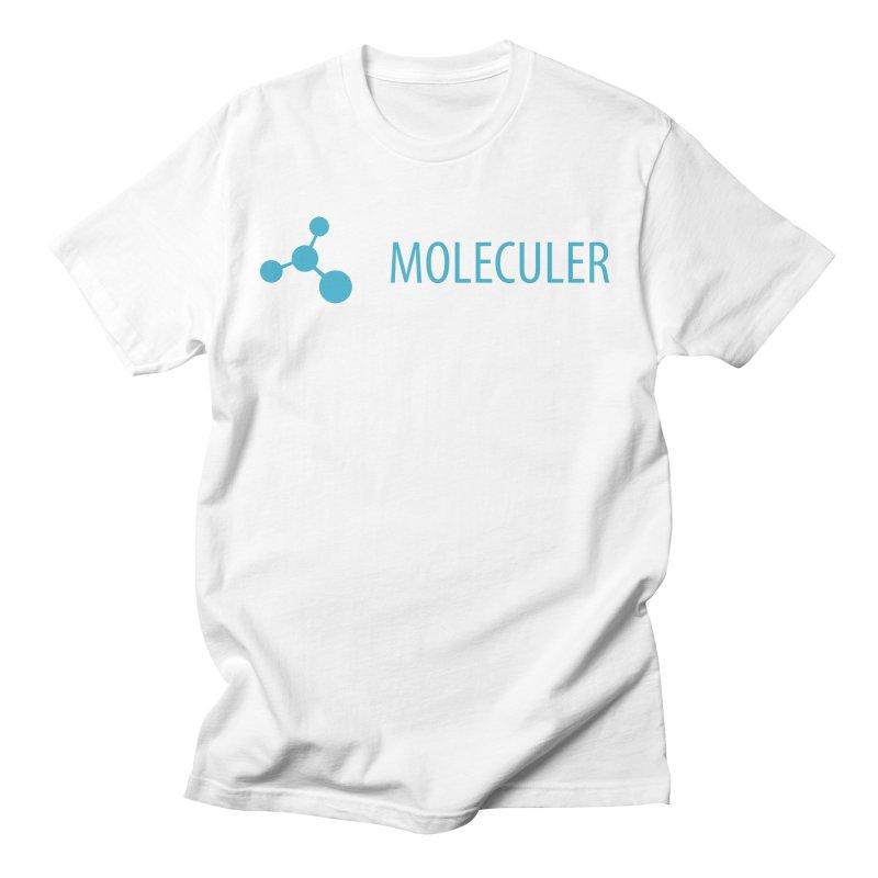 Moleculer logo & text blue (horizontal) Men's T-Shirt by Moleculer's Shop