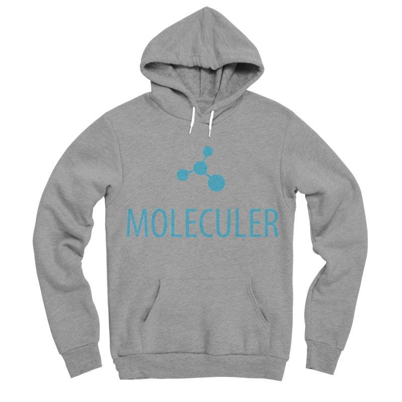 Moleculer logo & text blue (vertical) Men's Sponge Fleece Pullover Hoody by Moleculer's Shop