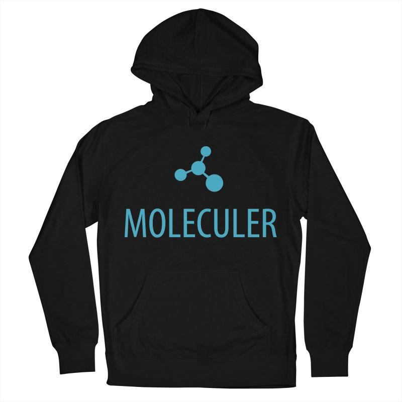 Moleculer logo & text blue (vertical) Men's French Terry Pullover Hoody by Moleculer's Shop