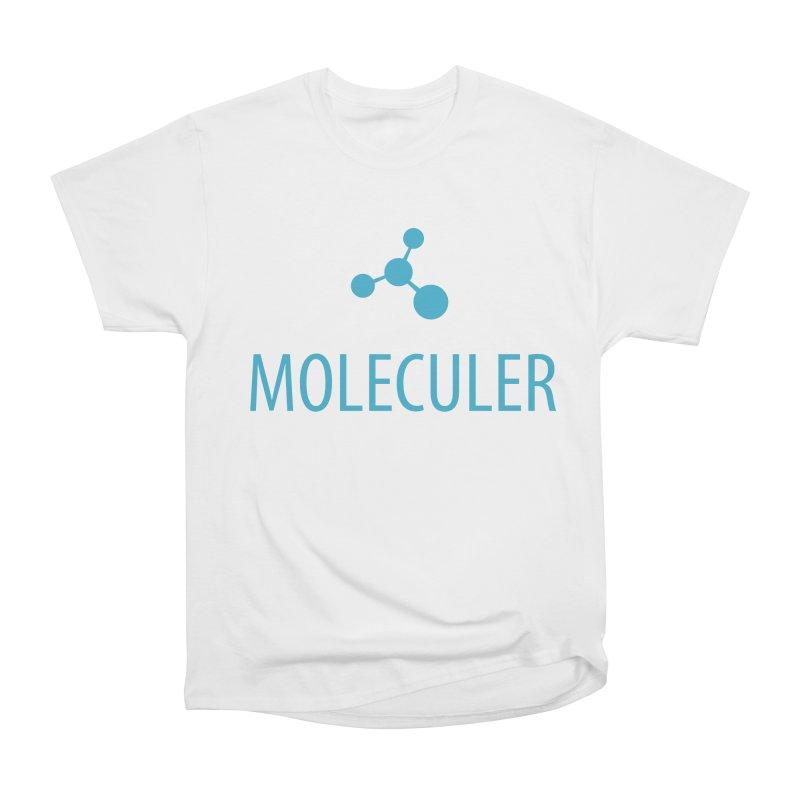 Moleculer logo & text blue (vertical) Men's Heavyweight T-Shirt by Moleculer's Shop