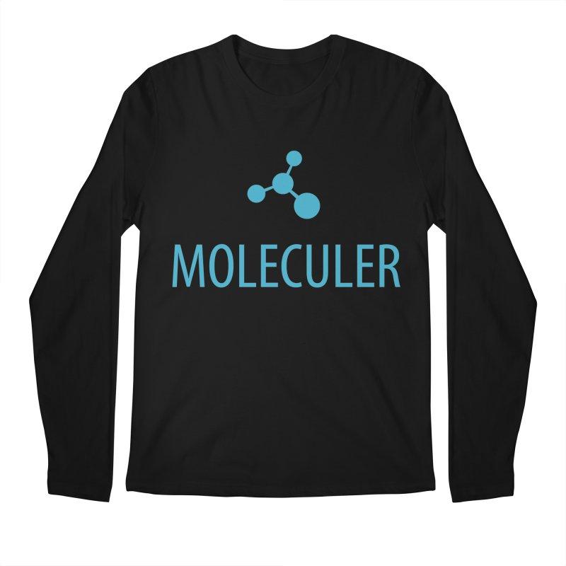 Moleculer logo & text blue (vertical) Men's Regular Longsleeve T-Shirt by Moleculer's Shop