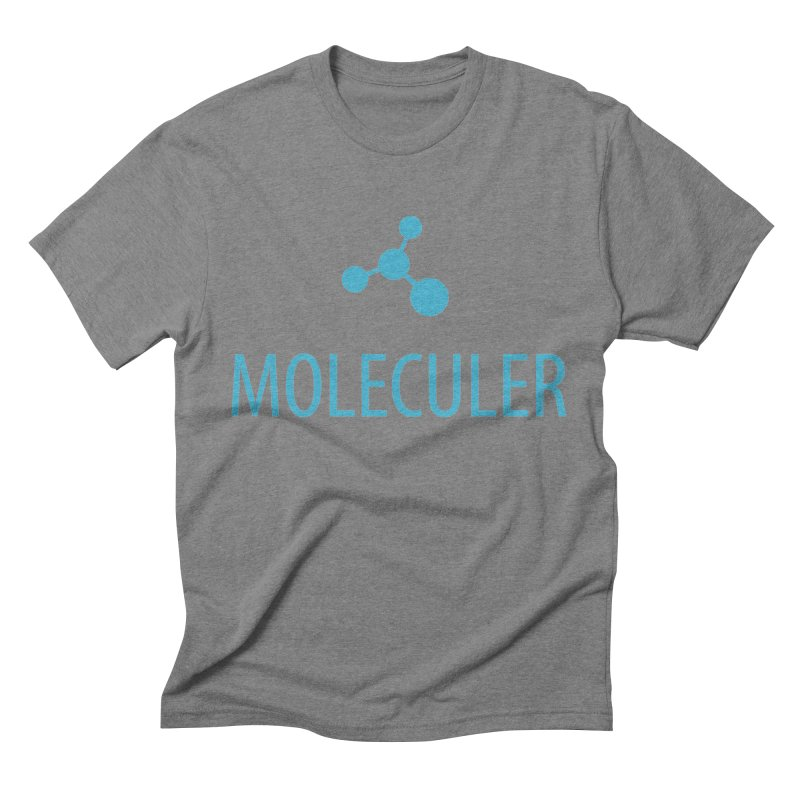 Moleculer logo & text blue (vertical) Men's Triblend T-Shirt by Moleculer's Shop