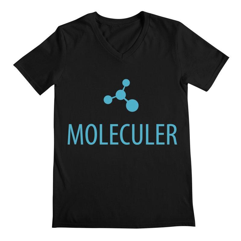 Moleculer logo & text blue (vertical) Men's Regular V-Neck by Moleculer's Shop