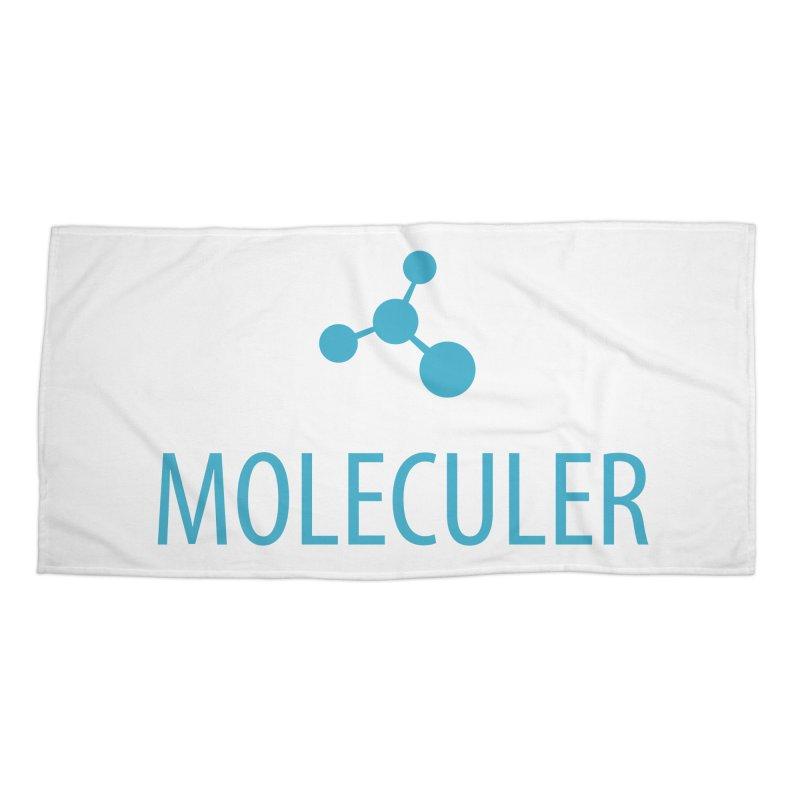 Moleculer logo & text blue (vertical) Accessories Beach Towel by Moleculer's Shop