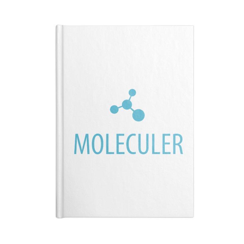 Moleculer logo & text blue (vertical) Accessories Blank Journal Notebook by Moleculer's Shop