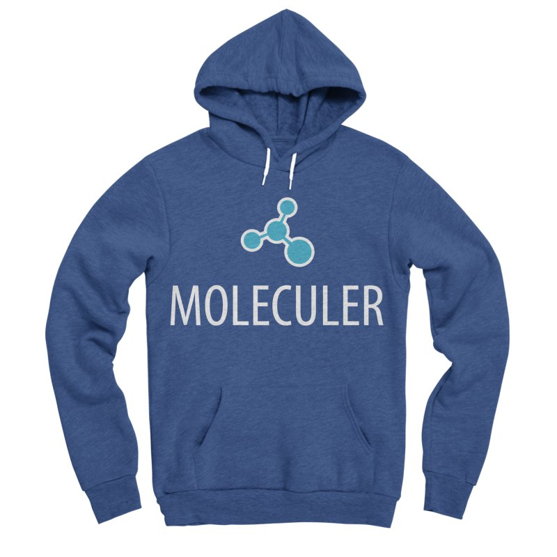 Moleculer logo & white text Men's Sponge Fleece Pullover Hoody by Moleculer's Shop