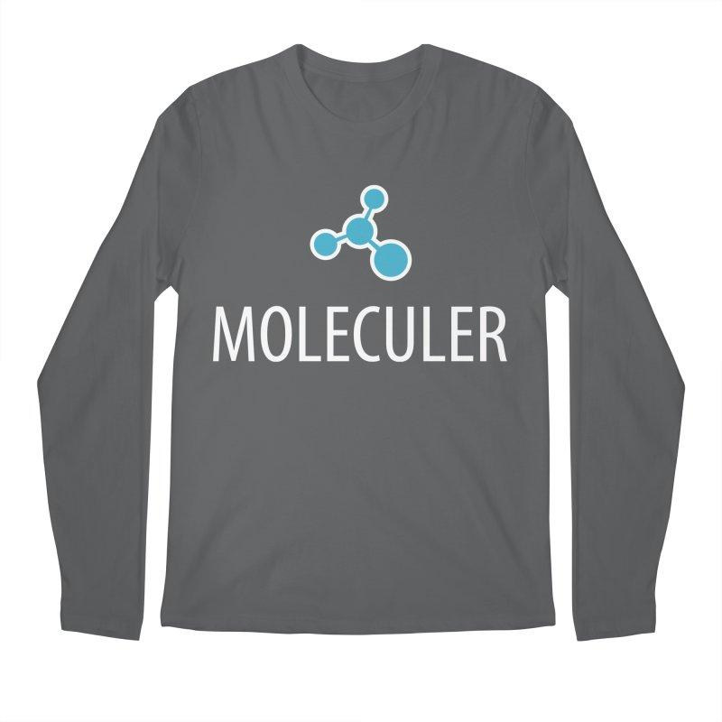 Moleculer logo & white text Men's Regular Longsleeve T-Shirt by Moleculer's Shop