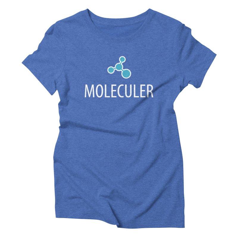 Moleculer logo & white text Women's Triblend T-Shirt by Moleculer's Shop