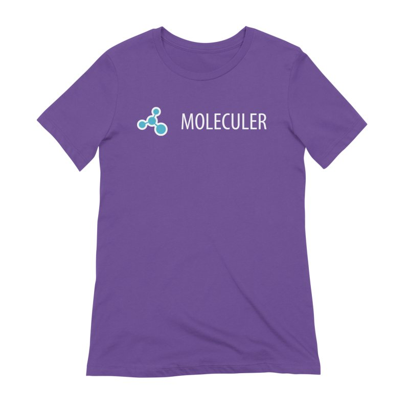 Moleculer logo & text white (horizontal) Women's Extra Soft T-Shirt by Moleculer's Shop