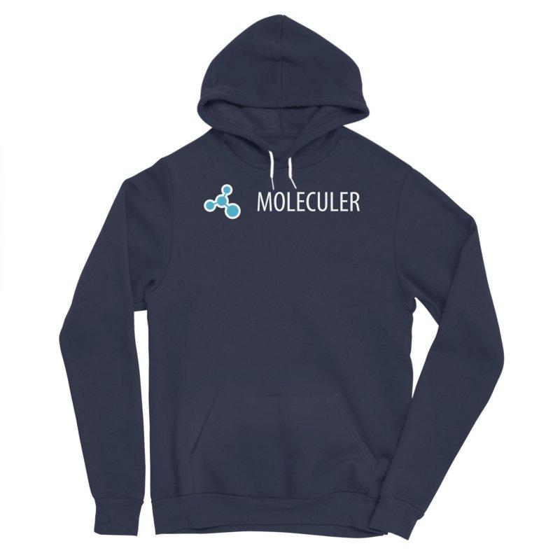Moleculer logo & text white (horizontal) Men's Pullover Hoody by Moleculer's Shop