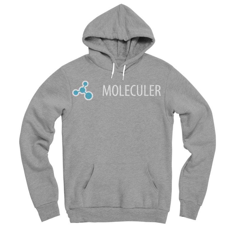 Moleculer logo & text white (horizontal) Women's Sponge Fleece Pullover Hoody by Moleculer's Shop