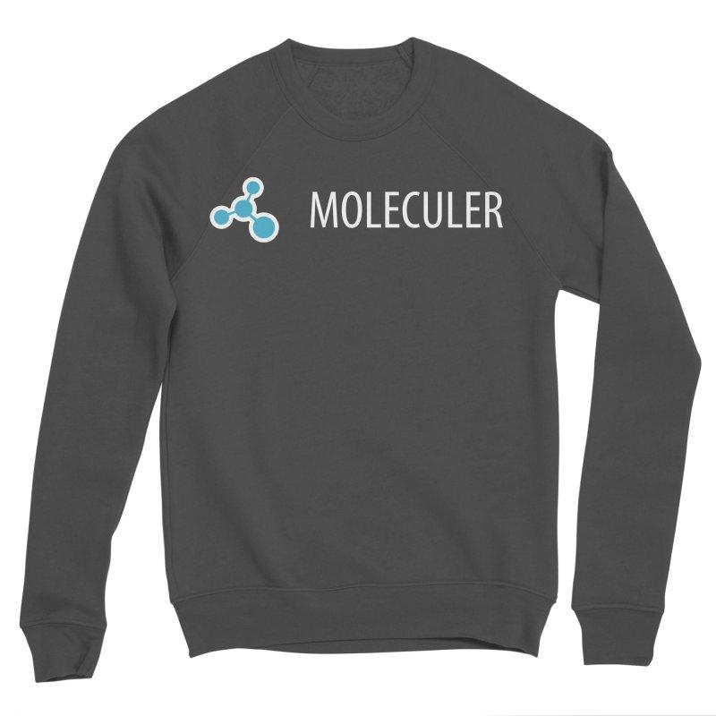 Moleculer logo & text white (horizontal) Women's Sponge Fleece Sweatshirt by Moleculer's Shop