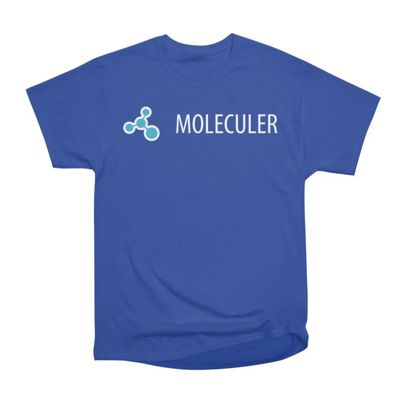 Moleculer logo & text white (horizontal) Women's Heavyweight Unisex T-Shirt by Moleculer's Shop