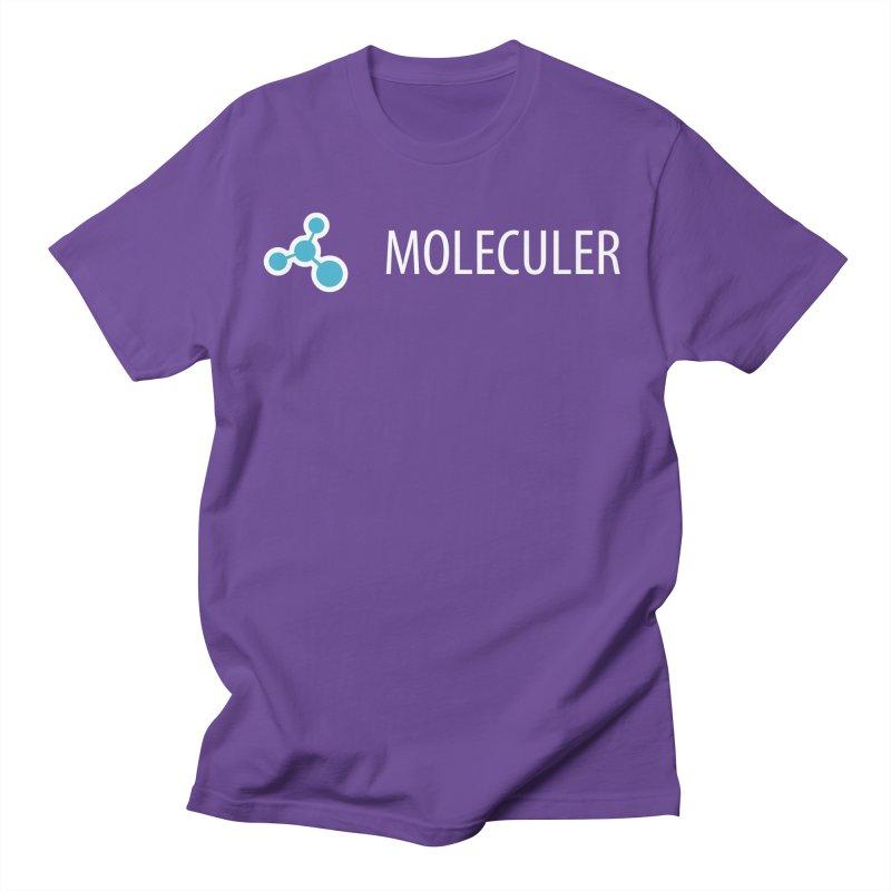 Moleculer logo & text white (horizontal) Women's Regular Unisex T-Shirt by Moleculer's Shop