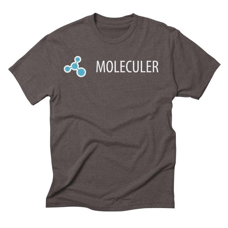 Moleculer logo & text white (horizontal) Men's Triblend T-Shirt by Moleculer's Shop