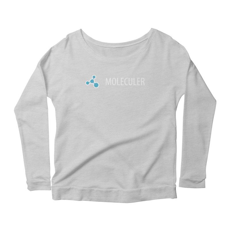 Moleculer logo & text white (horizontal) Women's Scoop Neck Longsleeve T-Shirt by Moleculer's Shop