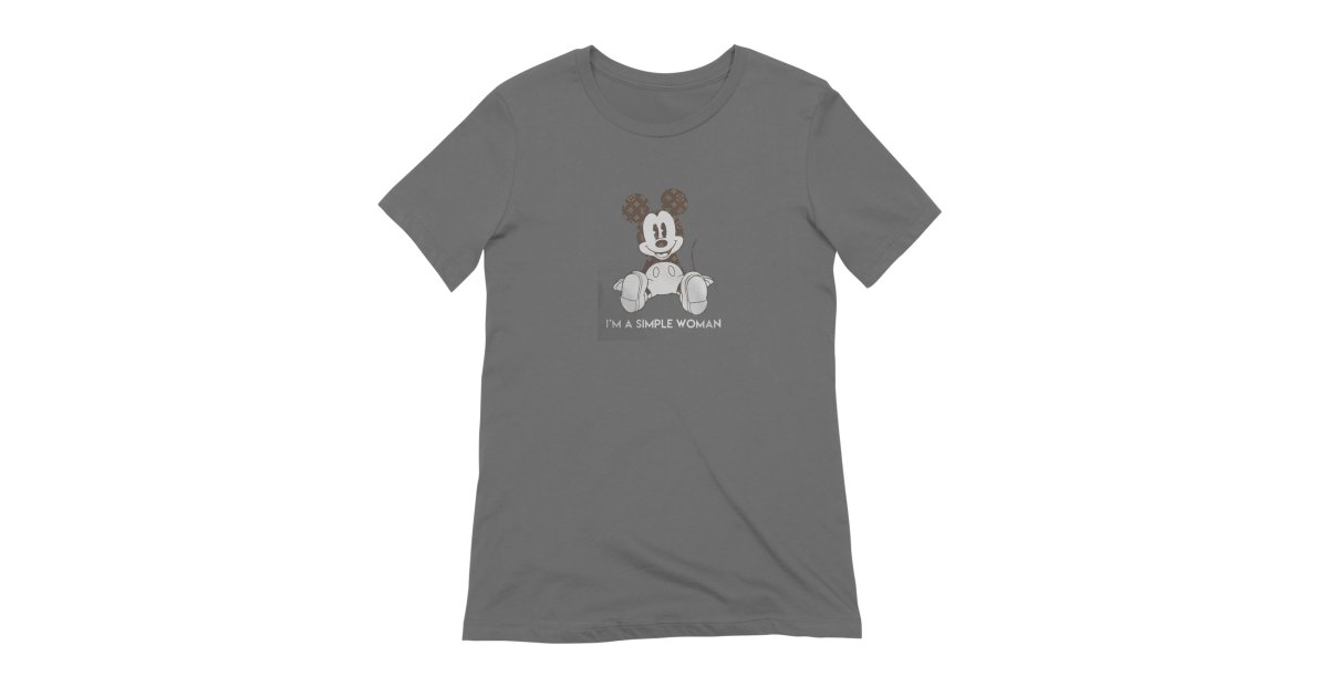 813a9536cfe3 molotee mickey-mouse-louis-vuitton-im-a-simple-women-shirt womens