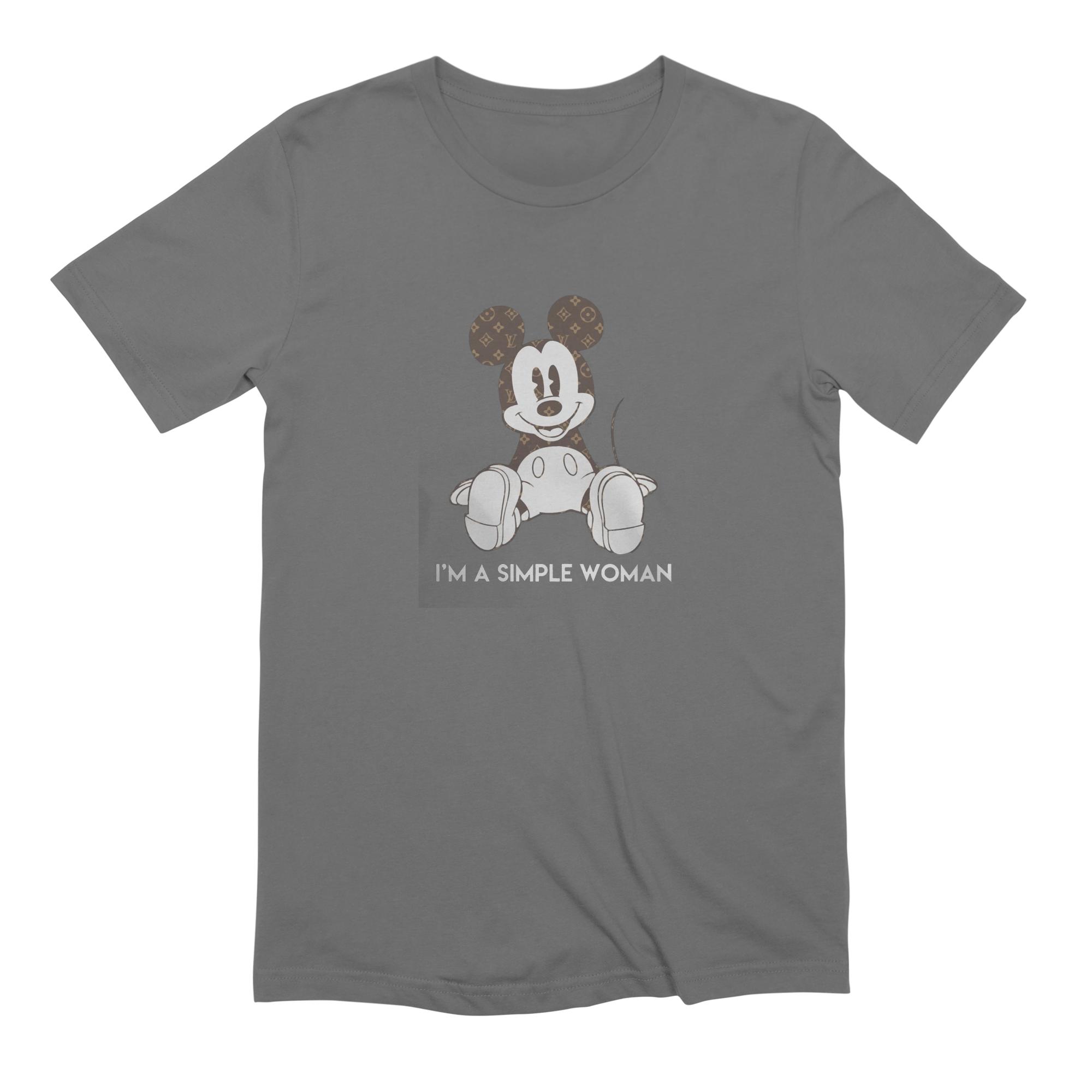 04c4dce1d3a2 molotee mickey-mouse-louis-vuitton-im-a-simple-women-shirt mens t-shirt