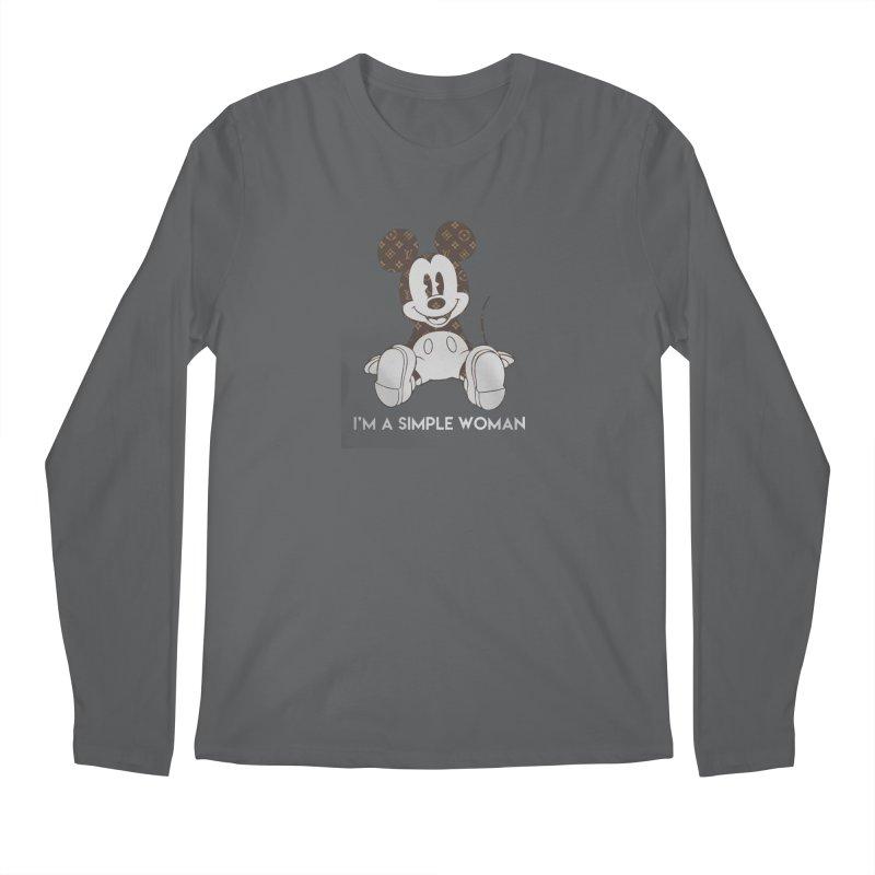 00b1f43f4a93 Mickey mouse louis vuitton I m a simple women shirt Men s Longsleeve T-Shirt