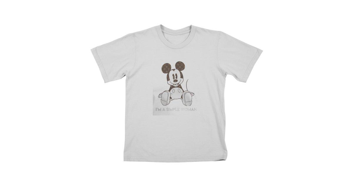 48fc1350c7b1 molotee mickey-mouse-louis-vuitton-im-a-simple-women-shirt kids