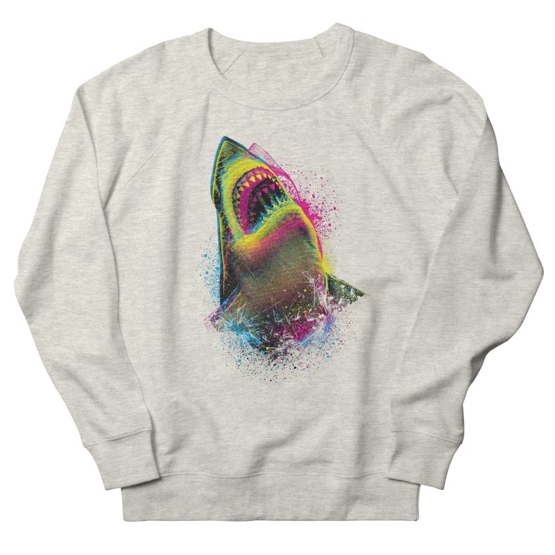 CMYK Sharkl Men's Sweatshirt by moncheng's Artist Shop