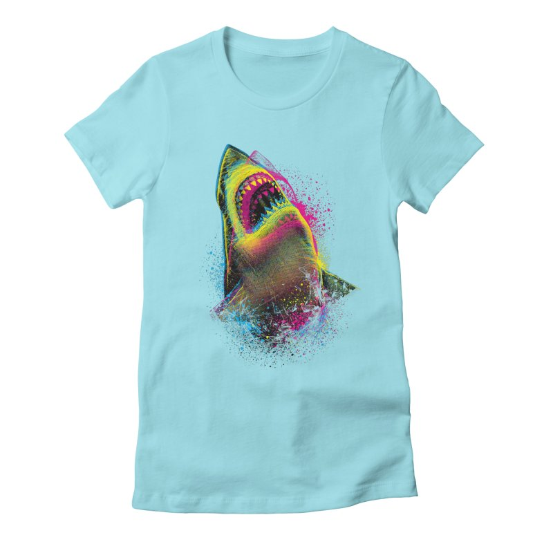 CMYK Sharkl Women's T-Shirt by moncheng's Artist Shop