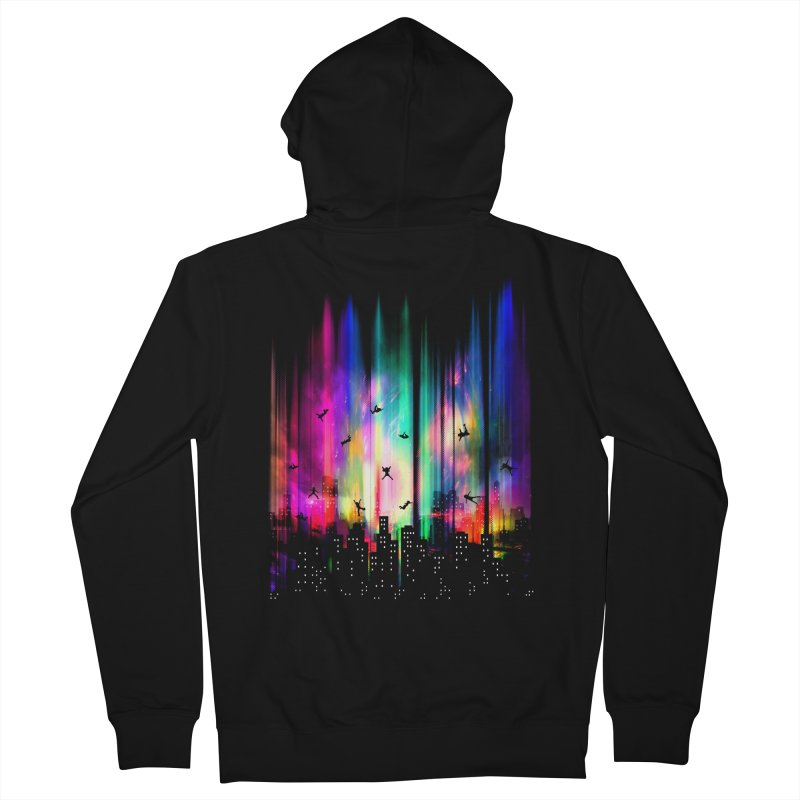 Feel Without Gravity Men's French Terry Zip-Up Hoody by moncheng's Artist Shop