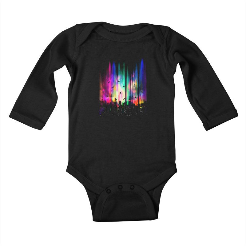 Feel Without Gravity Kids Baby Longsleeve Bodysuit by moncheng's Artist Shop