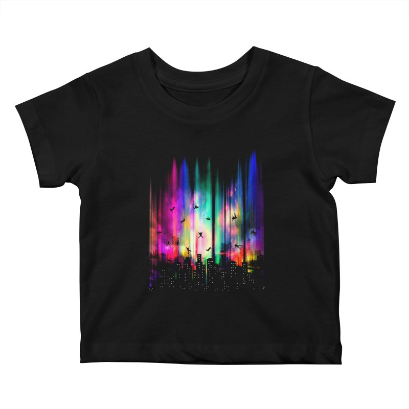 Feel Without Gravity Kids Baby T-Shirt by moncheng's Artist Shop