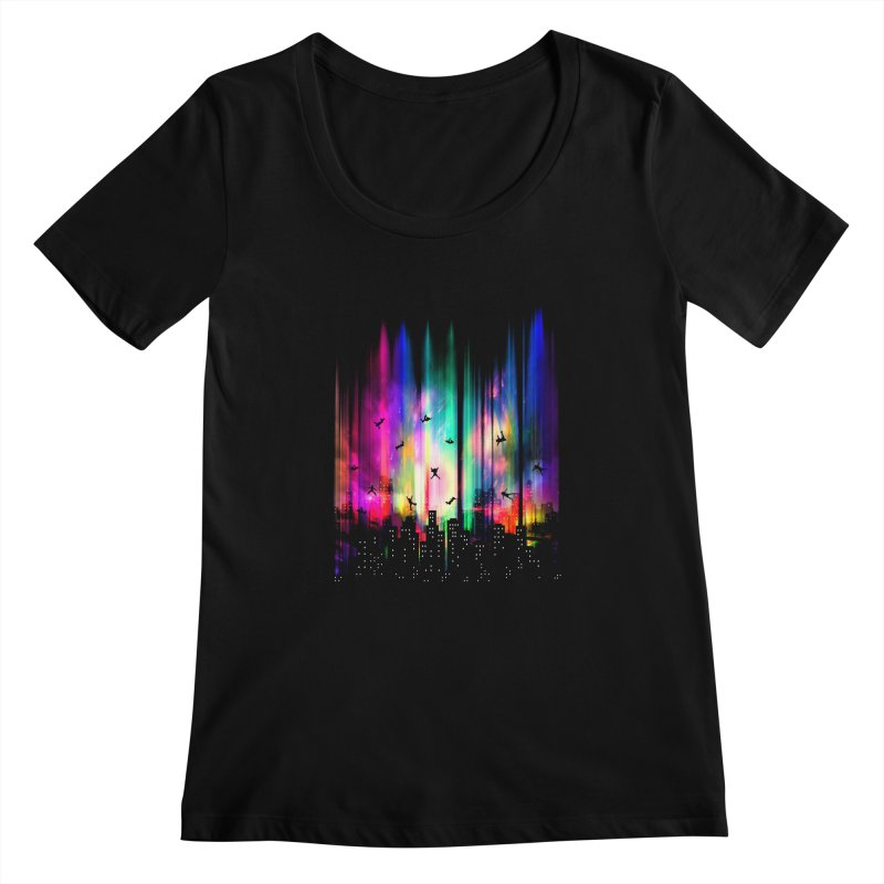 Feel Without Gravity Women's Scoopneck by moncheng's Artist Shop